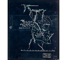 205 Map showing location lot no 10 of Moore Beckley patent Raleigh Co W Va 10 000 a included Inverted Photographic Print