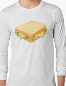 Sandwich Flat Vector Design Long Sleeve T-Shirt