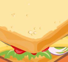 Sandwich Flat Vector Design Sticker