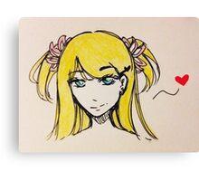 Cute Anime Girl Canvas Print