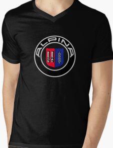 alpina retro Mens V-Neck T-Shirt