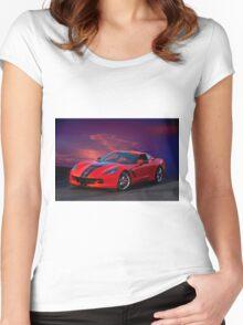 2015 Corvette Z51 Stingray I Women's Fitted Scoop T-Shirt