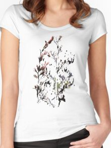 New Zealand flax in bloom Women's Fitted Scoop T-Shirt