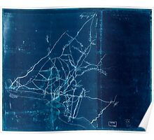 American Revolutionary War Era Maps 1750-1786 519 Draft of roads in New Jersey Inverted Poster