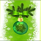 Green Christmas ornament  (4796 Views) by aldona