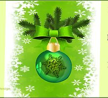 Green Christmas ornament  (4733 Views) by aldona