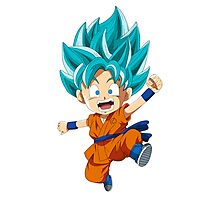 Super Saiyan Blue Chibi Goku Photographic Print