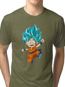 Super Saiyan Blue Chibi Goku Tri-blend T-Shirt