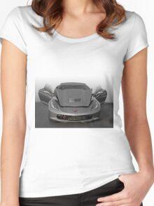 2016 Corvette C7 'Exposed' Women's Fitted Scoop T-Shirt