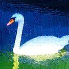 Floating swan abstract 2 by ♥⊱ B. Randi Bailey