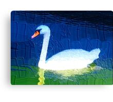Floating swan abstract 2 Canvas Print