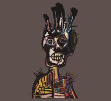 Basquiat African Skull Man One Piece - Short Sleeve