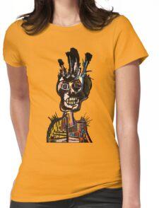 Basquiat African Skull Man Womens Fitted T-Shirt