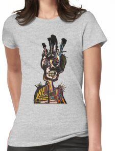 Basquiat African Skull Man Womens Fitted T-Shirt