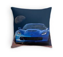 Chevrolet Corvette C7 'Blue Moon' Throw Pillow