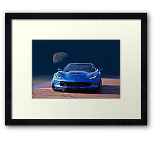 Chevrolet Corvette C7 'Blue Moon' Framed Print