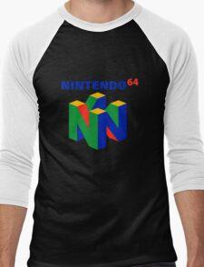 nintendo 64 old retro Men's Baseball ¾ T-Shirt