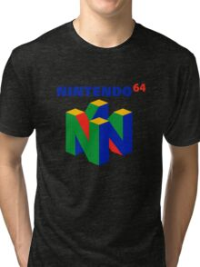nintendo 64 old retro Tri-blend T-Shirt