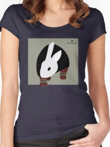 pattern rabbit Women's Fitted Scoop T-Shirt