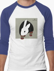 pattern rabbit Men's Baseball ¾ T-Shirt