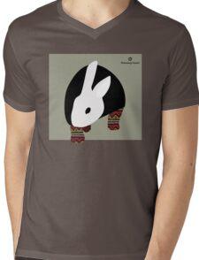 pattern rabbit Mens V-Neck T-Shirt