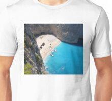 Shipwreck on a beautiful beach Unisex T-Shirt