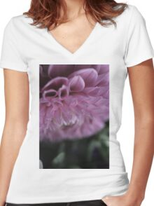 flower close up six Women's Fitted V-Neck T-Shirt