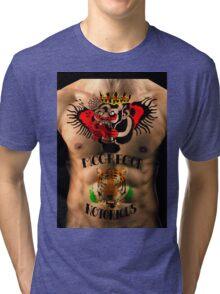 Chest tattoos realistic Tri-blend T-Shirt