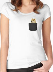Doge  Women's Fitted Scoop T-Shirt