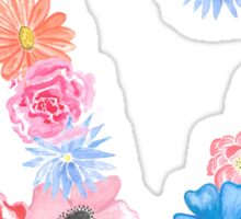 dz watercolor flowers Sticker
