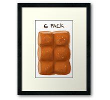 6 pack Framed Print