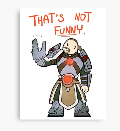 Smite - That's not funny (Chibi) Canvas Print