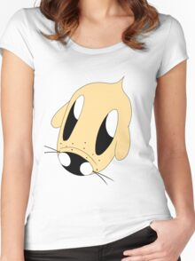 Puppy-So-Cute Face Women's Fitted Scoop T-Shirt