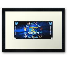 Journey To The Moon New Nintendo 3DS Bottom Face Plate Framed Print