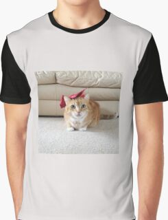 Cute cat with a bow Graphic T-Shirt