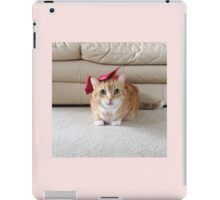 Cute cat with a bow iPad Case/Skin