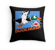 Duck Hunt Retro Cover Throw Pillow