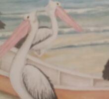 Pelican Pirates take over a dinghy Sticker