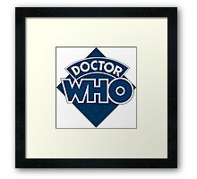 retro doctor who logo Framed Print