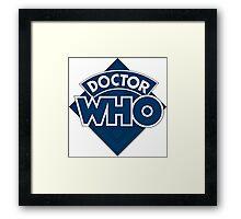 retro doctor who logo Framed Print