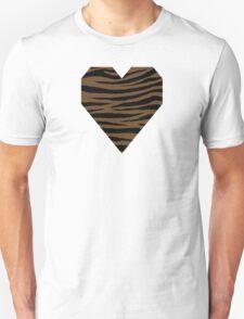0166 Dark Brown or Otter Brown Tiger Unisex T-Shirt