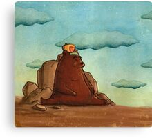 Bear with cap Canvas Print