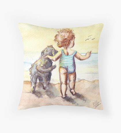 Sally and Spike Throw Pillow