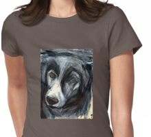 Madge the Border Collie Womens Fitted T-Shirt