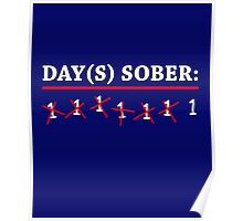 Day(s) Sober White Poster
