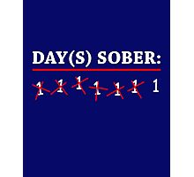 Day(s) Sober White Photographic Print