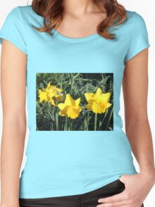 Daffodil Delight Women's Fitted Scoop T-Shirt