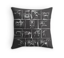 History of Controllers Throw Pillow