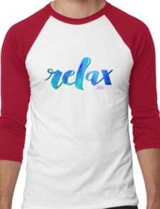 RELAX WATERCOLOR by Jan Marvin Men's Baseball ¾ T-Shirt