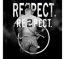 derek Jeter Respect 2 Photographic Print